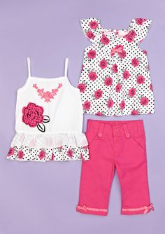 ADORABLE 3-piece outfit for girls (by Nannette)