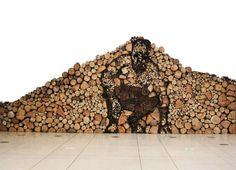 Log wood installation.