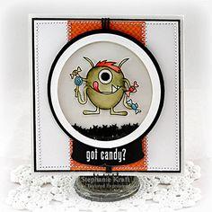 Got Candy? Shaker Card by Stephanie Kraft #Cardmaking, #ShakerCards, #Halloween