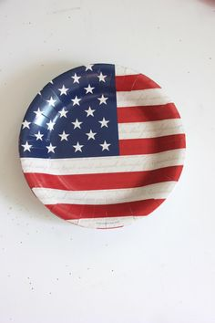Sale Set 20 RED WHITE & BLUE Paper Plates 4th Fourth of July Striped Stars Stripes Usa America Birthday Picnic Flag Appetizer Dessert Snack by TheFulfilledShop on Etsy https://www.etsy.com/listing/400395851/sale-set-20-red-white-blue-paper-plates