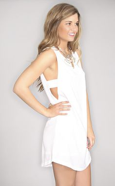 "girls night out dress - white--Get 15% off + Free Shipping w/code ""RiffraffRepLauren"" at checkout on ShopRiffraff.com!"