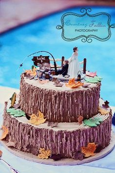 fishing grooms cake - Google Search