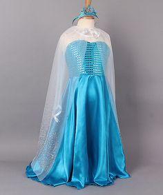 Loving this White & Blue Princess Dress-Up Set - Toddler on #zulily! #zulilyfinds