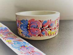 Круглый деревянный браслет ручная петриковская роспись Нежность Петриковка