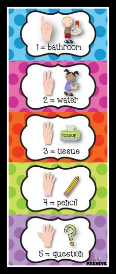 Bookmark size hand motion cards.  Perfect for your students desks and students with special needs! (Freebie)