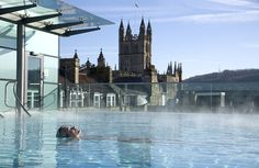 Thermae Bath Spa, Bath UK. Natural mineral baths.