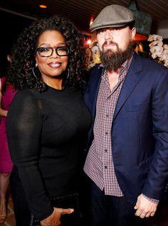 "leonardo-dicaprio-daily:  ""Leonardo DiCaprio (executive producer) and Oprah Winfrey attend a party for the Oscar nominated documentary Virunga in Los Angeles (February 20, 2015)  """