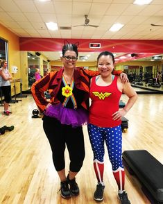 Halloween working out.