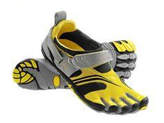 reputable site 8e115 06b03 (Men) Vibram FiveFingers Komodo Shoes Yellow Silver Grey Komodo, Hiking  Shoes