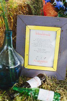 festival wedding ideas, woodstock
