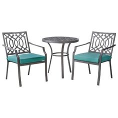 Threshold™ Harper 3-Piece Metal Patio Bistro Set (for pool area)
