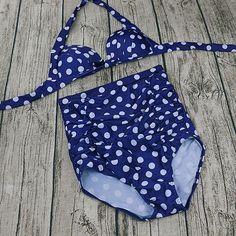 Plus Size High Wa... bringing sexy back #bandb #love #followme http://bikinis-and-bathers.myshopify.com/products/plus-size-high-waist-push-up-blue-polka-dot-bikini?utm_campaign=social_autopilot&utm_source=pin&utm_medium=pin