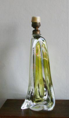 Great Val Saint Lambert crystal tablelamp aera