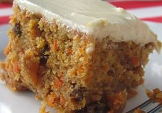 Eggless Carrot Cake - Recipe - Egg Free Carrot Cake sounds like a super yummy easy recipe for my moms bday