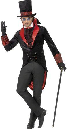 Adult Dracula Vampire Costume Halloween Jack The Ripper Victorian Fancy Dress UK