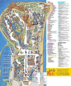 Cedar Point Amusement park Map