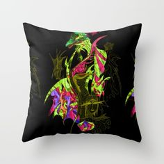 #drawing #painting #abstractpainting #pillow #extravagant #dragon #graffiti
