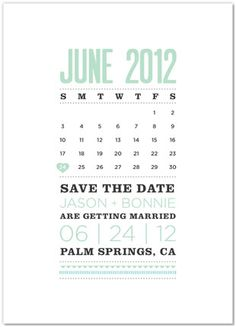 Amanda Calendar Save the Date / Save the Date by mariechangdesigns ...
