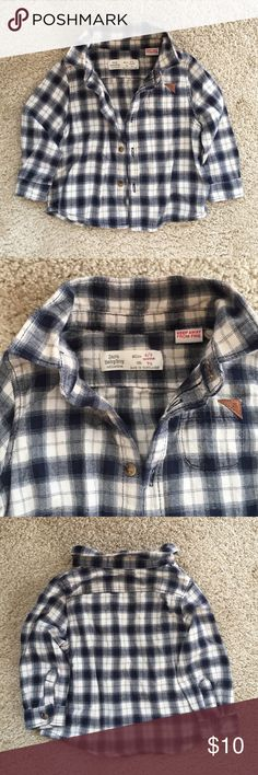 Zara Soft Flannel Button Down Super soft and only worn a couple of times. Such cute detail and goes well with the skinny jeans i am selling! Zara Shirts & Tops Button Down Shirts