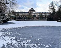 Winterlandschaft Kurpark, Wiesbaden.