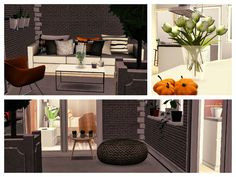 Orange Pearl Apartment by Simberry / Balcony / Sims 3 / Download Sims 3 Games, Free Sims, Apartments, Balcony, Pearls, Orange, House, Style, Swag
