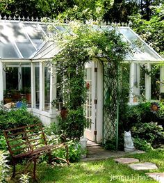 Someday I will have my own little conservatory/greenhouse!