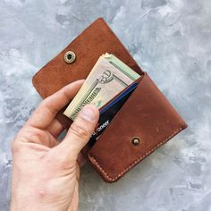 b2fc69b35 Billetera de cuero / compact monedero / carpeta de cuero / Monederos  Hombre, Monederos De