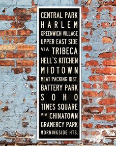 Small New York Subway Sign on Canvas by Transit Design. New York City Bus Scroll and industrial decor.