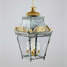 I love this! Charles Edwards hanging cast scroll lantern