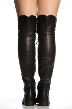 a3c428188dd Fourever Funky Over The Knee Lace Up Riding Faux Leather Thigh High Combat Boots  Black