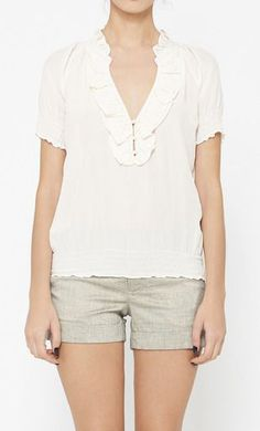 Joie White Top & shorts
