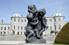 Similar to sculptures at Versailles, this bronze group of children are of French design and the work of Marin. The two vases on each side, with Cupids facing each other, were bought at St. Petersburg. Powerscourt Gardens www.powerscourt.ie