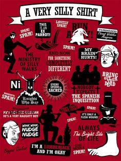 An infographic of classic Monty Python quotes...