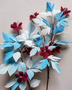 #paper #decoration #crepepaper #blue #red #handmade #fantasy