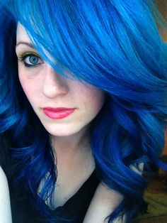 Prety blue hair... and really gorgeous eye color.   Bloop by ugg-off, via Flickr