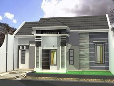 Modern minimalist home design 1 floor - The house is a person's basic needs to be used as a residence. Home Floor Design, Bungalow House Design, Modern House Design, Modern Bungalow, Modern Minimalist House, Minimalist Home Interior, Type 45, One Storey House, Latest House Designs