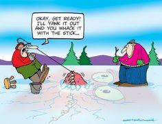 Fishing Cartoons by Tundra Comics - Drowning Worms
