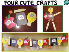 4 back to school crafts with expectations for learning!!!! makes the cutest pennant!