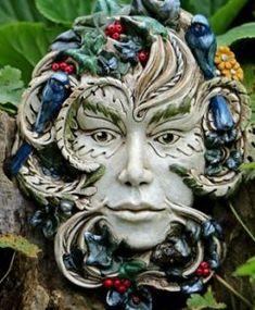 Gaia Green Lady Sculpture by Kathleen Minton
