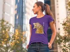 LENARA Shop - shirts, hoodies and gifts. Product: Women's Premium Tee.  The print - Cat head to the right. GO TO STORE https://teespring.com/newcat-right#pid=370&cid=6544&sid=front