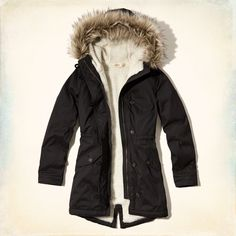 Women's Thick Military Jacket Fleece Fur Hood Long Winter Coat Fur
