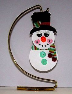 Tea Light Snowman Ornament by !Beth! - Cards and Paper Crafts at Splitcoaststampers