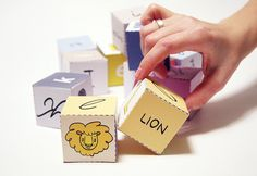 English Alphabet Cubes, Printable PDF Toy - DIY Craft Kit, Paper Toy, Learn Letters, Fun learning