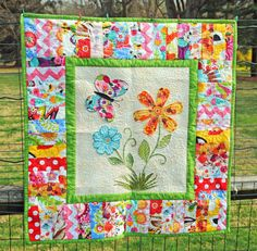 Baby Security Blanket - Scrappy Quilt - Patchwork Quilt - Mat - Crib Bedding - Picnic Blanket - Baby Shower - ONLY ONE Immediate Shipping Quilting Projects, Quilting Designs, Sewing Projects, Sewing Ideas, Sewing Crafts, Patch Quilt, Applique Quilts, Girls Quilts, Baby Quilts