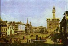 Bernardo Bellotto Signoria Square in Florence - Bernardo Bellotto painting free shipping, painting Authorized official website