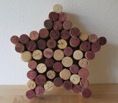 Wine Cork Star Wall Hanging. $25.00, via Etsy.