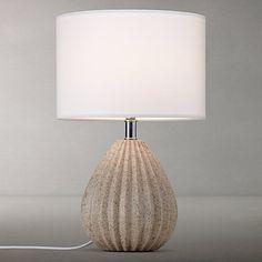 Buy John Lewis Oscar Ribbed Stone Table Lamp Online at johnlewis.com
