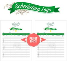 """Got """"baby brain""""? Stay on track of feedings, diapers changes and naps with our printable scheduling log!"""