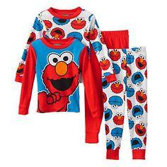 Sesame Street Elmo & Cookie Monster Pajama Set - Toddler Boy