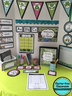 Are you planning a frog themed classroom or thematic unit? This blog post provides great decoration tips and ideas for the best frog theme yet! It has photos, ideas, supplies & printable classroom decor to will make set up easy and affordable. You can create a frog theme on a budget!